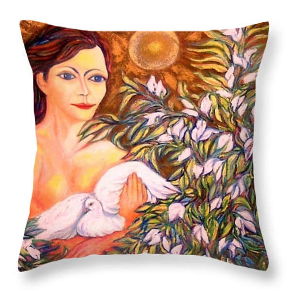 Shine Throw Pillow by Gunter  Hortz