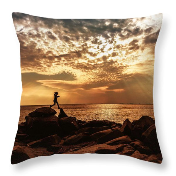 Shine On Me Throw Pillow by Mary Amerman