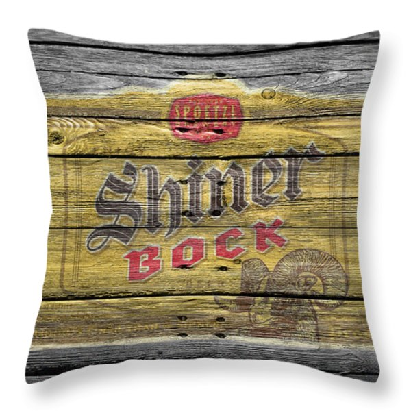 Shiner Bock Throw Pillow by Joe Hamilton