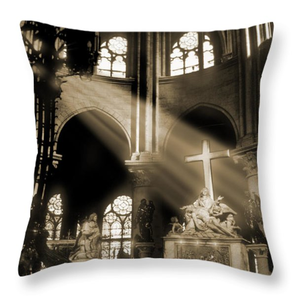 Shinning Through Throw Pillow by Mike McGlothlen