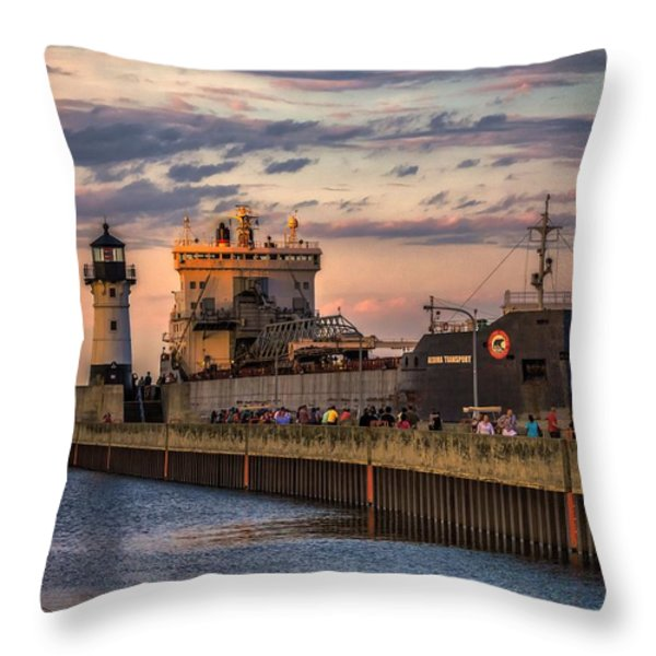 Ship Ahoy Throw Pillow by Mary Amerman