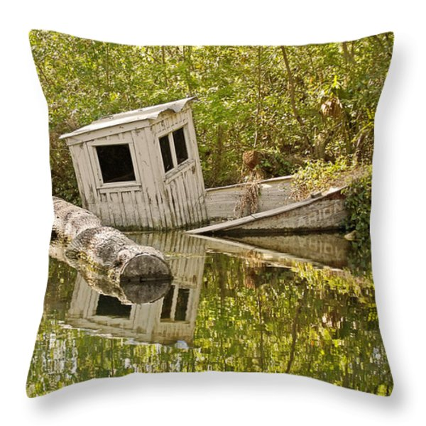 Shipwreck Silver Springs Florida Throw Pillow by Christine Till