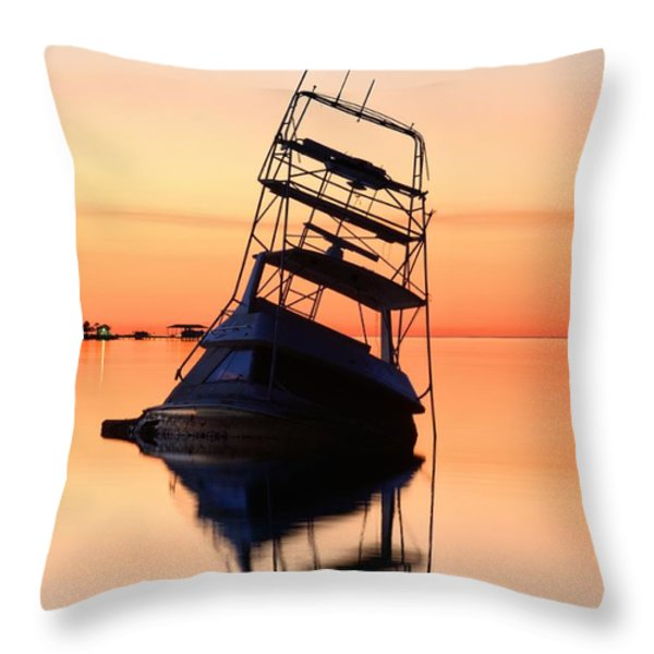 Shipwrecked in Navarre Throw Pillow by JC Findley