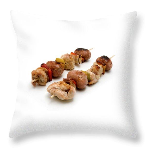 Shish Kebab Throw Pillow by Fabrizio Troiani