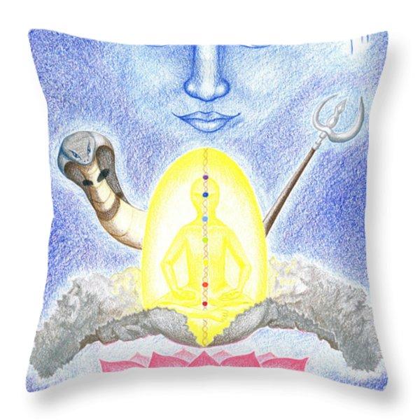 Shiva Throw Pillow by Keiko Katsuta