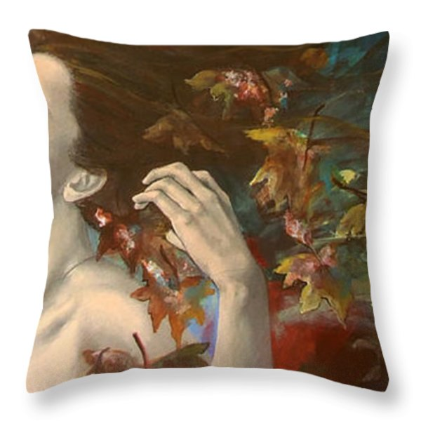 Shivers Throw Pillow by Dorina  Costras