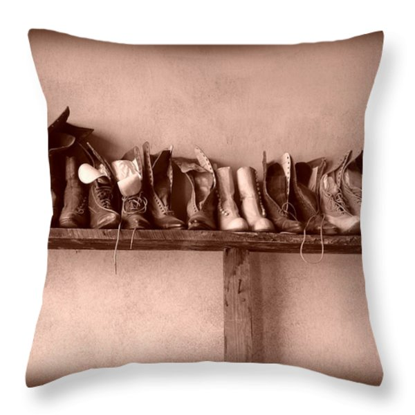 Shoes Throw Pillow by Fran Riley