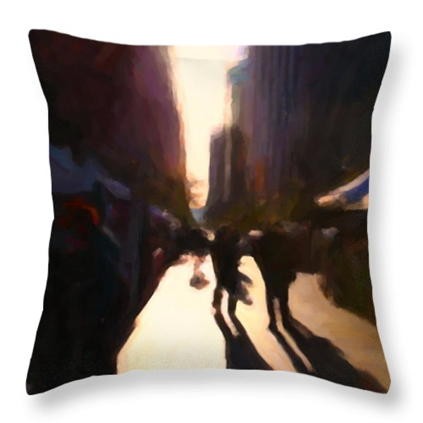Shopping Stands Along Market Street at San Francisco's Embarcadero - 5D20841 v2 Throw Pillow by Wingsdomain Art and Photography