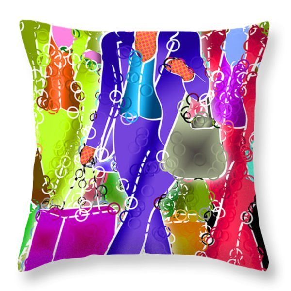 Shopping Throw Pillow by Stephen Younts