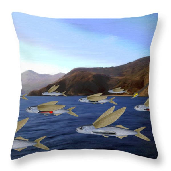 Shoreline Squadron Throw Pillow by Snake Jagger