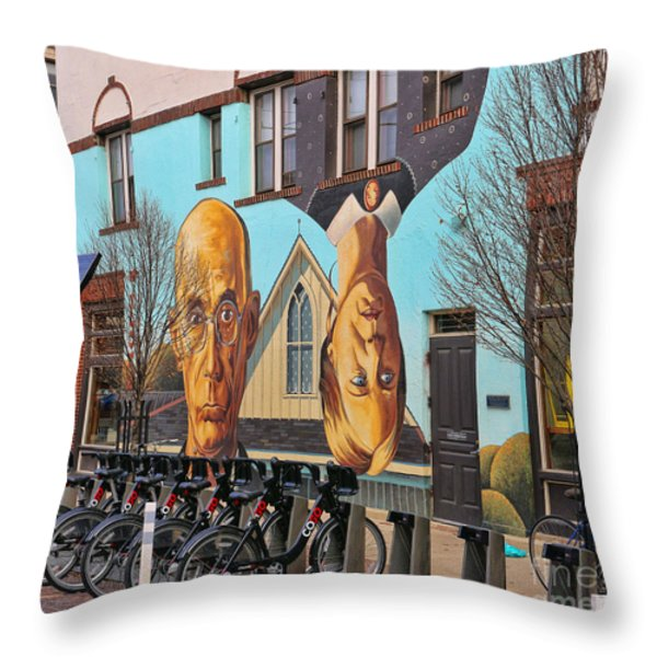 Short North Mural 4673 Throw Pillow by Jack Schultz