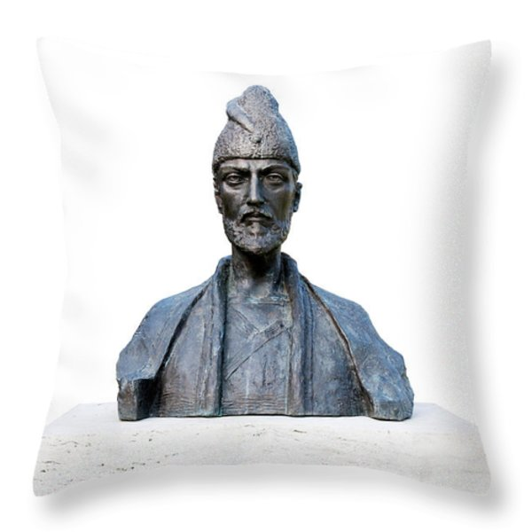 Shota Rustaveli Throw Pillow by Fabrizio Troiani