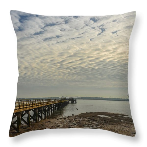 Shotley Bay Throw Pillow by Svetlana Sewell