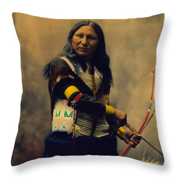 Shout At Oglala Sioux  Throw Pillow by Heyn Photo