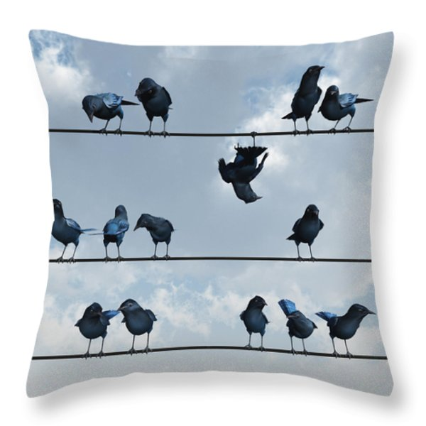 Show Off Throw Pillow by Cynthia Decker