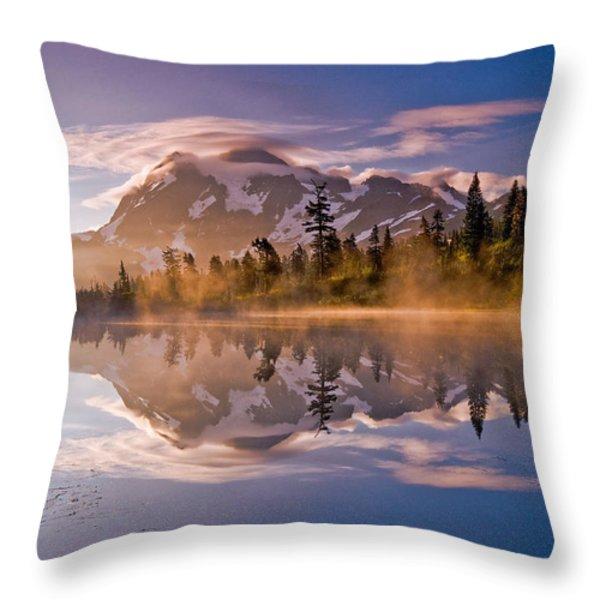 Shuksan Sunrise Throw Pillow by Darren  White