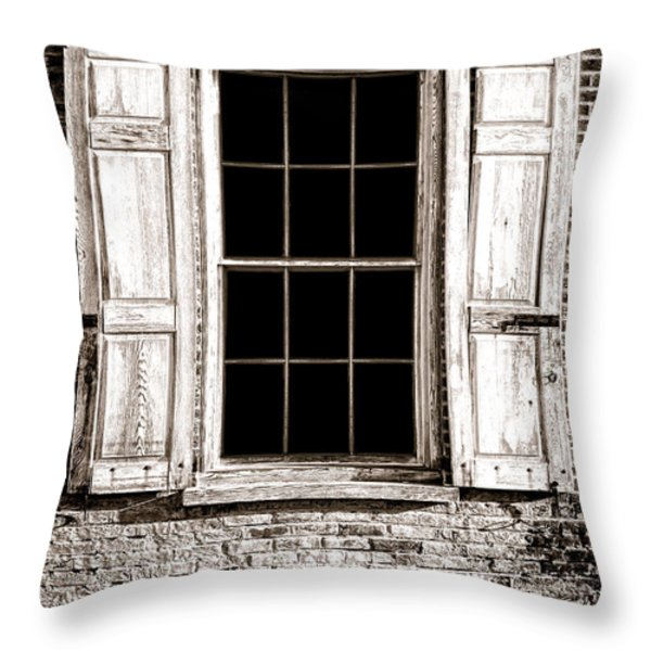 Shutters Throw Pillow by Olivier Le Queinec