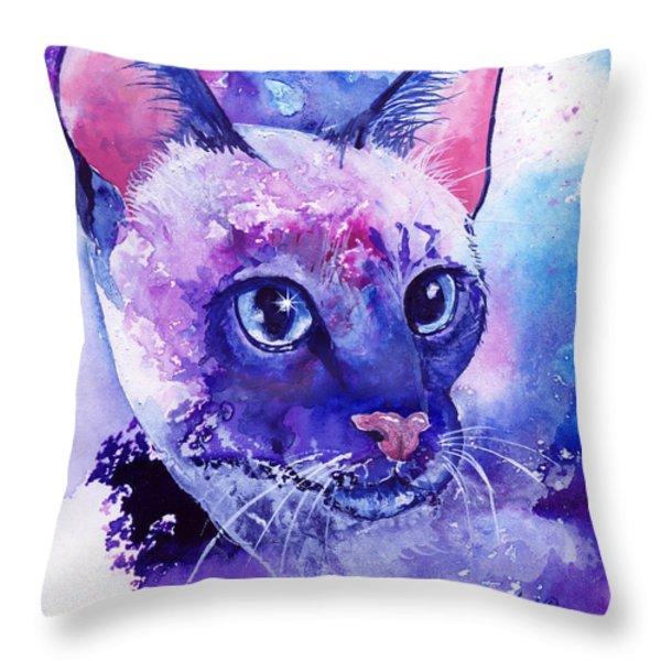 Siamese Fantasy Throw Pillow by Sherry Shipley