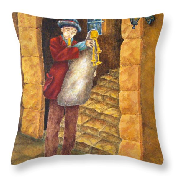 Sicilian Ciaramella Throw Pillow by Pamela Allegretto