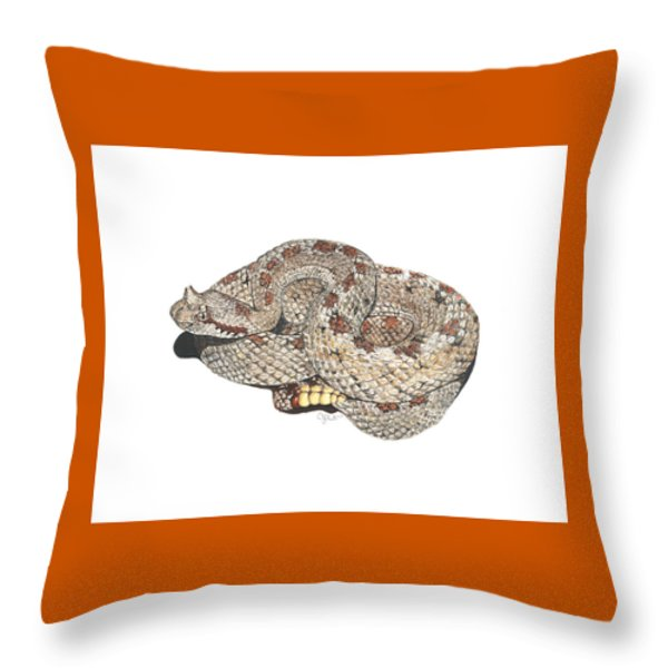 Sidewinder Throw Pillow by Cindy Hitchcock