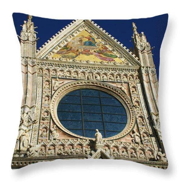Sienna Cathedral Throw Pillow by Barbara Stellwagen