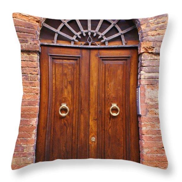 Sienna Door Throw Pillow by Barbara Stellwagen