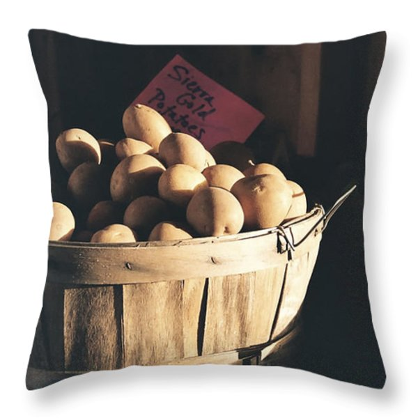 Sierra Gold Throw Pillow by Caitlyn  Grasso