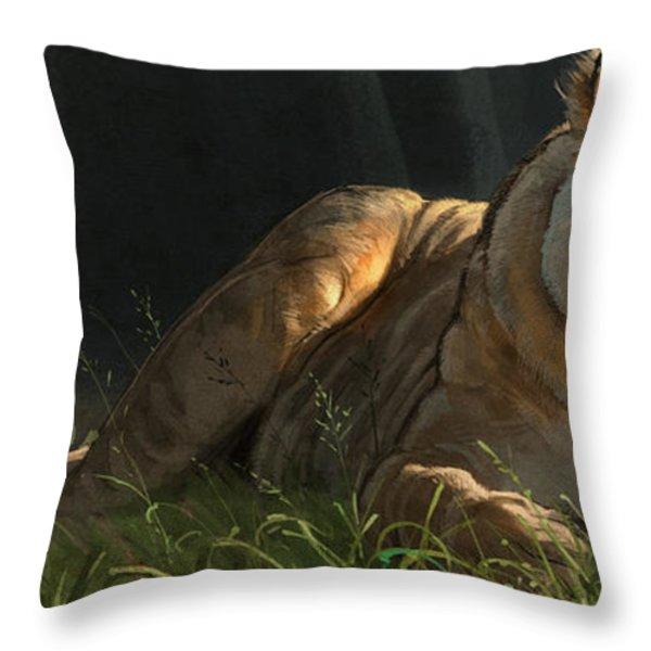 Siesta 2 Throw Pillow by Aaron Blaise