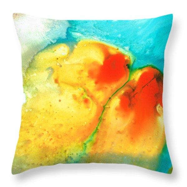 Siesta Sunrise Throw Pillow by Sharon Cummings