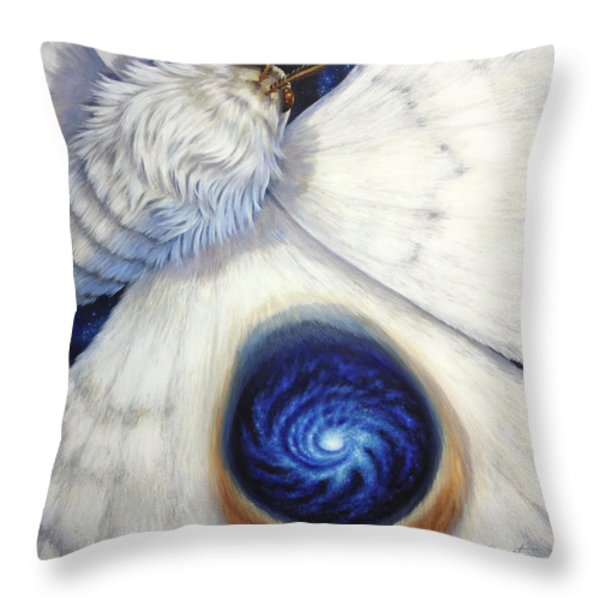Signature Of The Universe Throw Pillow by Lucy West