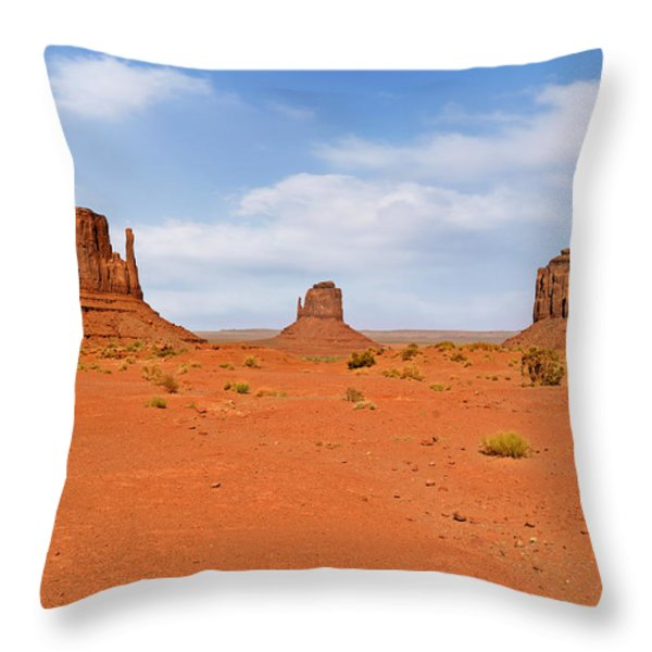 Signatures of Monument Valley Throw Pillow by Christine Till