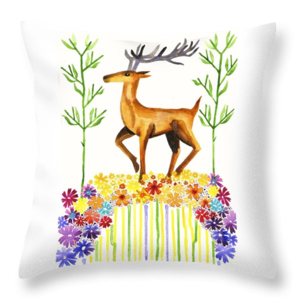 Signs Of Spring Throw Pillow by Cat Athena Louise