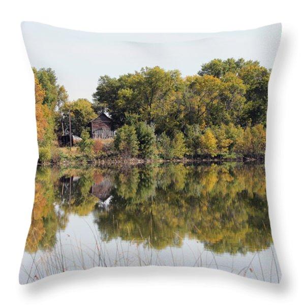 Silence And Solatuid  Throw Pillow by Lori Tordsen