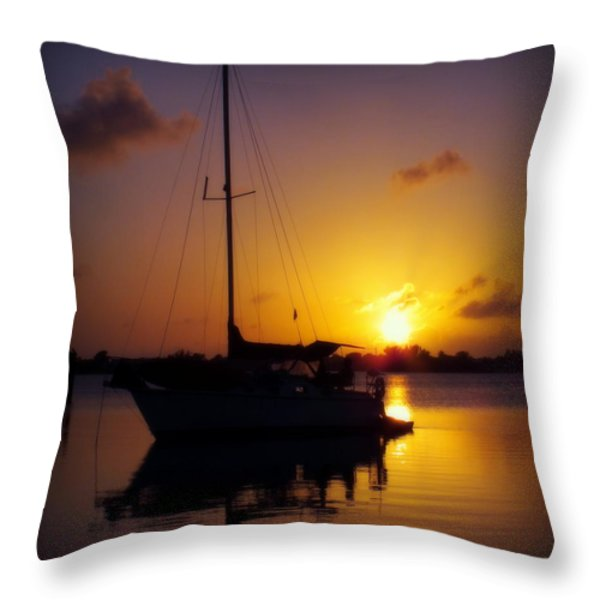 SILENCE of NIGHT Throw Pillow by KAREN WILES