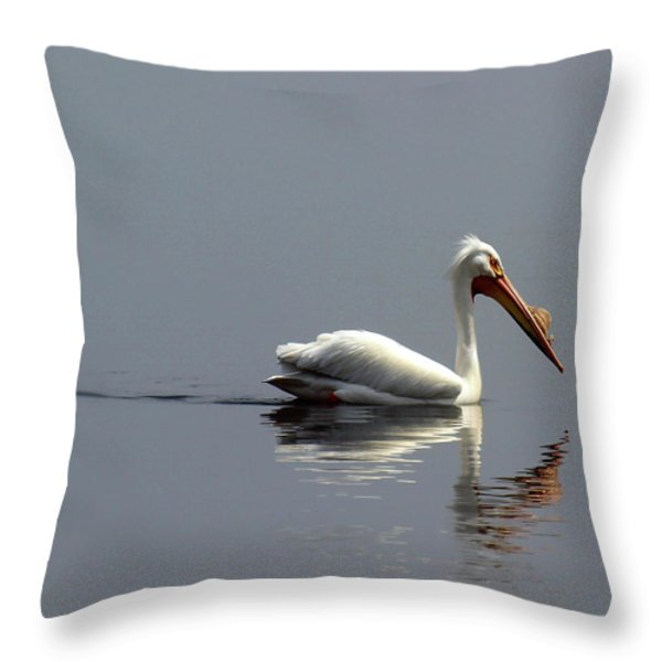 Silent And Reflective Throw Pillow by Thomas Young