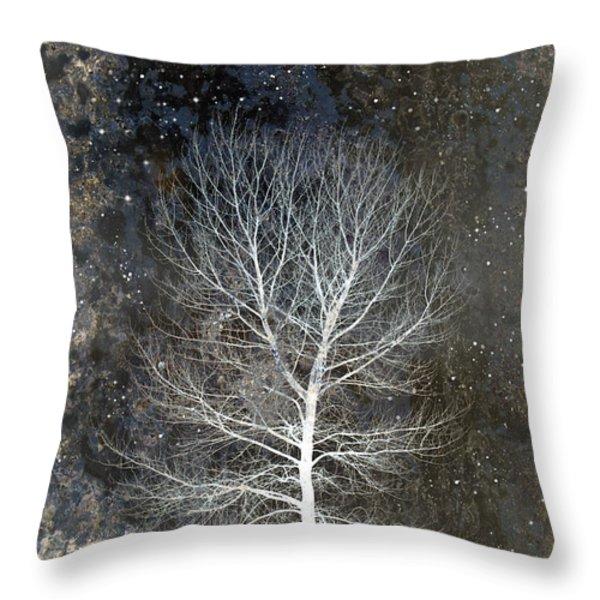Silent Night Throw Pillow by Carol Leigh