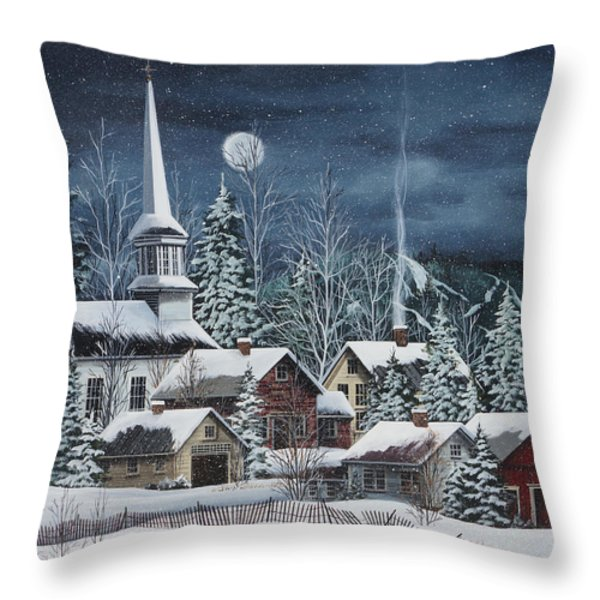 Silent Night Throw Pillow by Debbi Wetzel