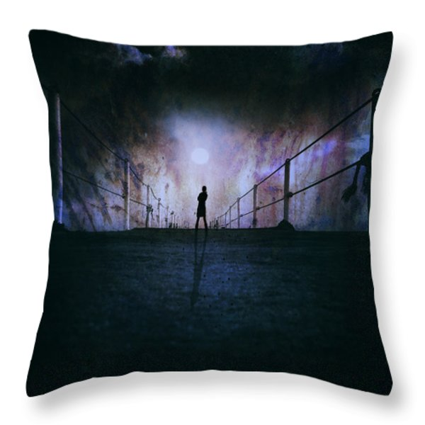Silent Scream Throw Pillow by Stylianos Kleanthous