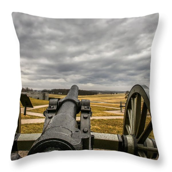 Silent Vigil at Gettysburg Throw Pillow by Mountain Dreams