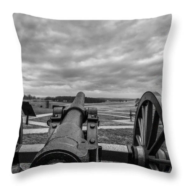 Silent Vigil at Gettysburg Throw Pillow by Mountain Dreams