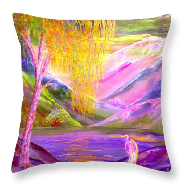 Silent Waters Throw Pillow by Jane Small