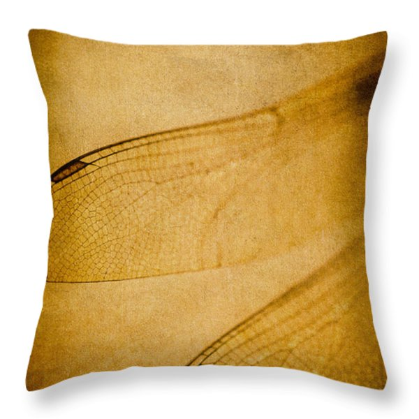 Silent Wings Throw Pillow by Jan Bickerton