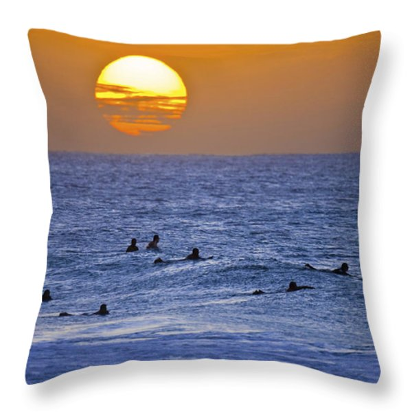 Silhouettes And Gold Throw Pillow by Sean Davey