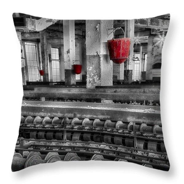 Silk Mill  Throw Pillow by Susan Candelario