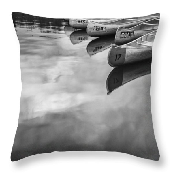 Silver Fish III Throw Pillow by Jon Glaser
