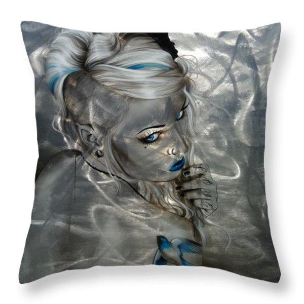 'silver Flight' Throw Pillow by Christian Chapman Art