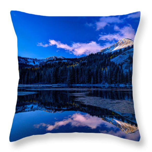 Silver Lake Throw Pillow by Dustin  LeFevre