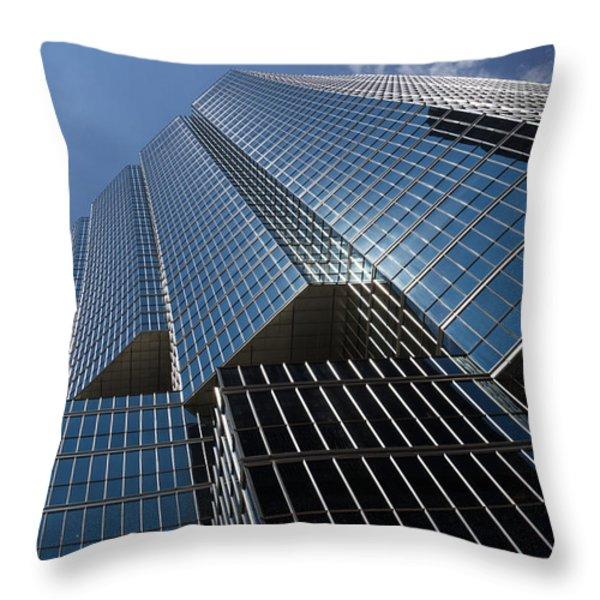 Silver Lines to the Sky - Downtown Toronto Skyscraper Throw Pillow by Georgia Mizuleva