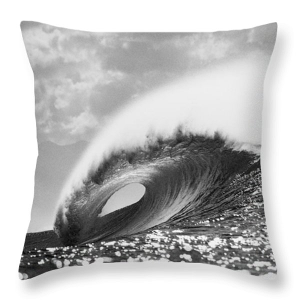 Silver Peak Throw Pillow by Sean Davey