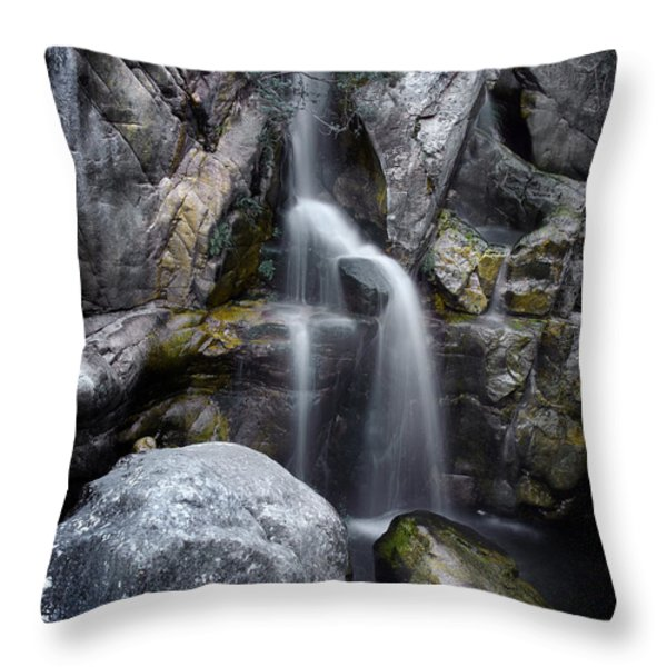 Silver Waterfall Throw Pillow by Carlos Caetano